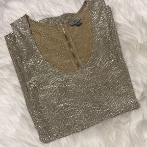 NEW YEARS GOLD SHIMMER TUNIC TOP